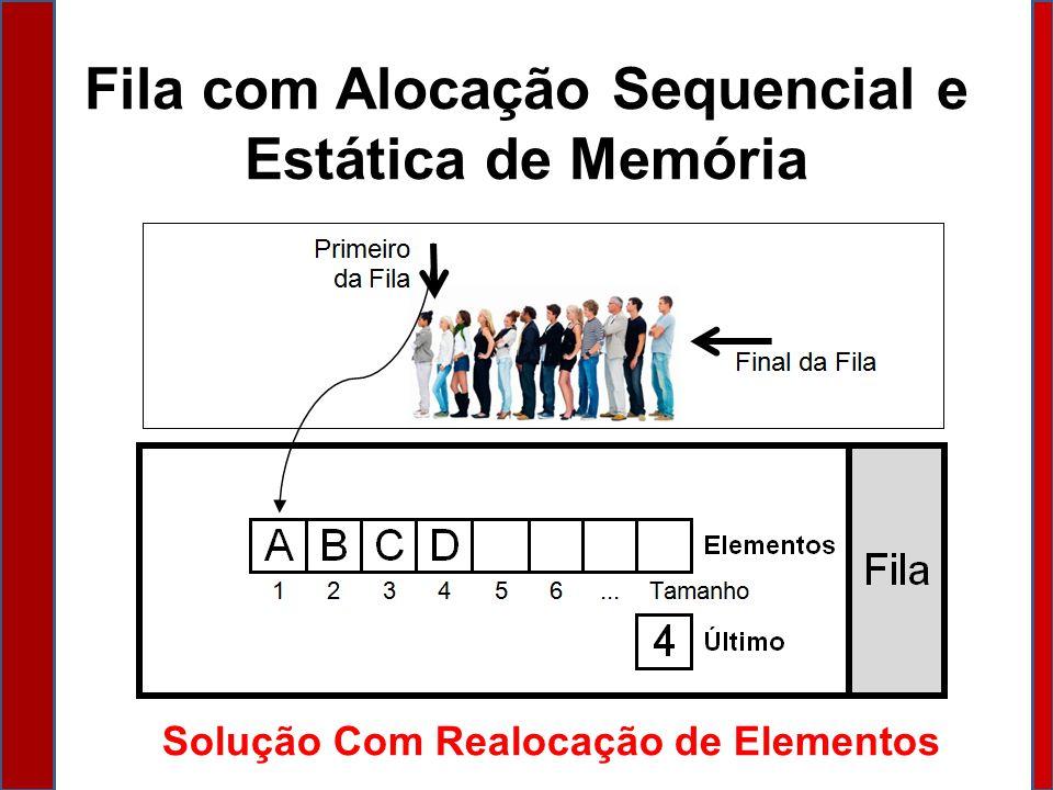 Fila com Alocação Sequencial e Estática de Memória