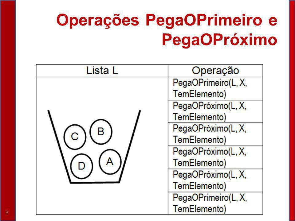 Operações PegaOPrimeiro e PegaOPróximo