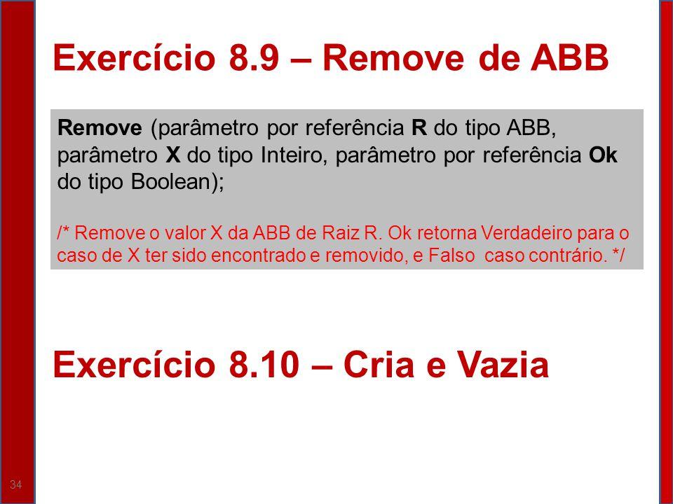 Exercício 8.9 – Remove de ABB