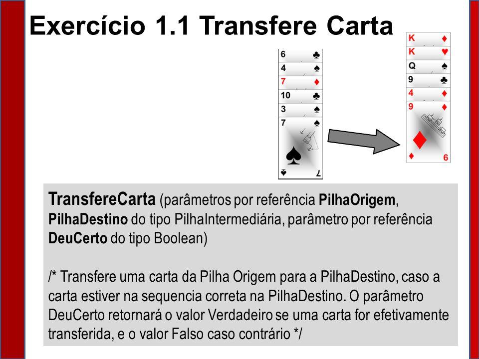 Exercício 1.1 Transfere Carta