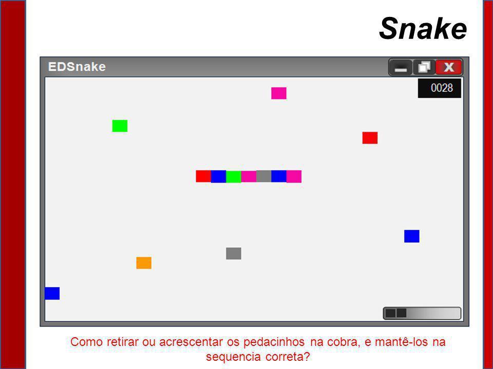 Snake Como retirar ou acrescentar os pedacinhos na cobra, e mantê-los na sequencia correta