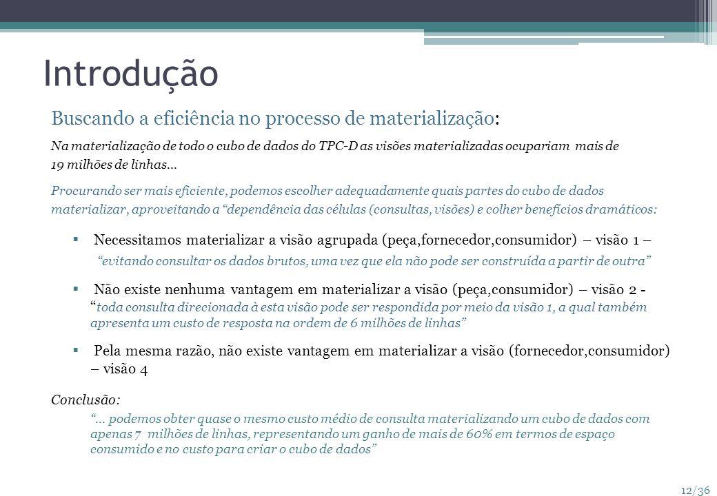 Introdução Buscando a eficiência no processo de materialização: