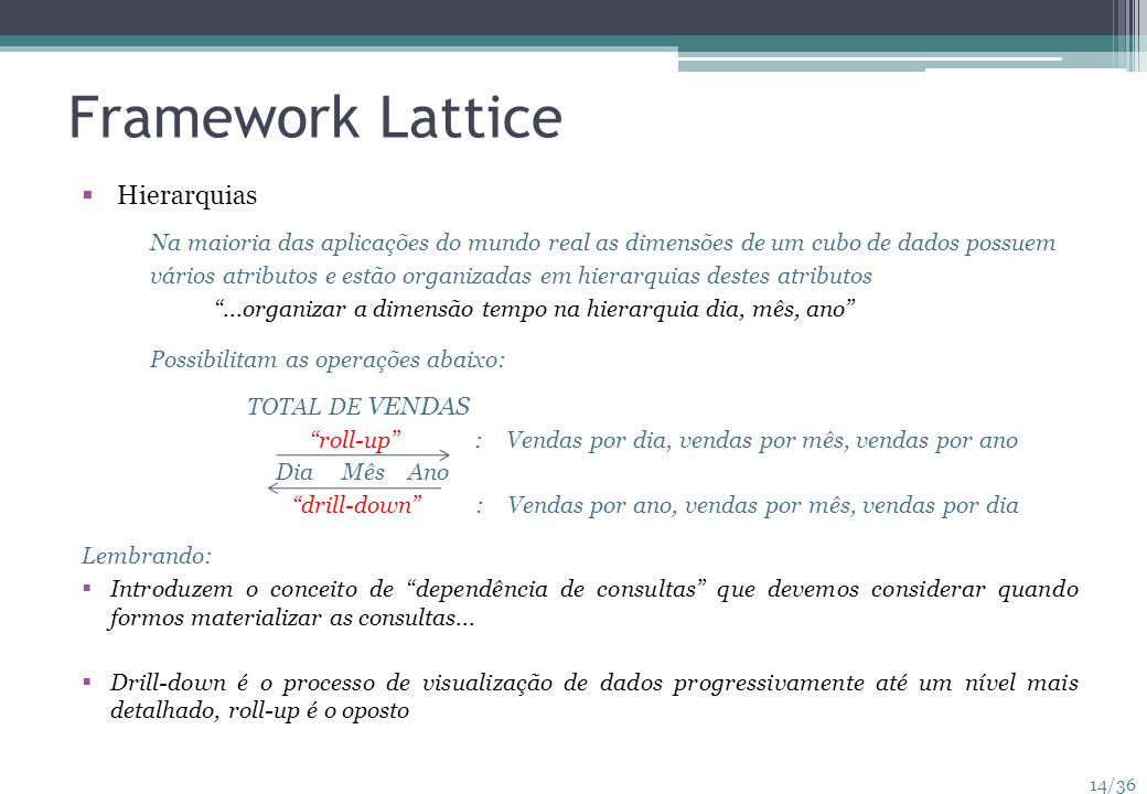 Framework Lattice Hierarquias