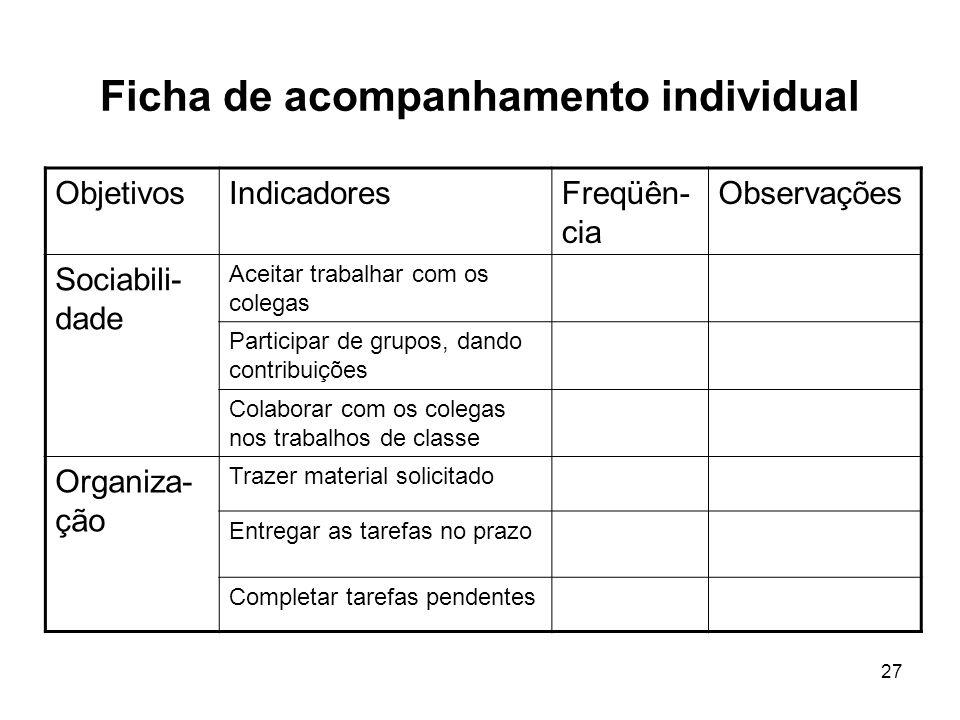 Ficha de acompanhamento individual