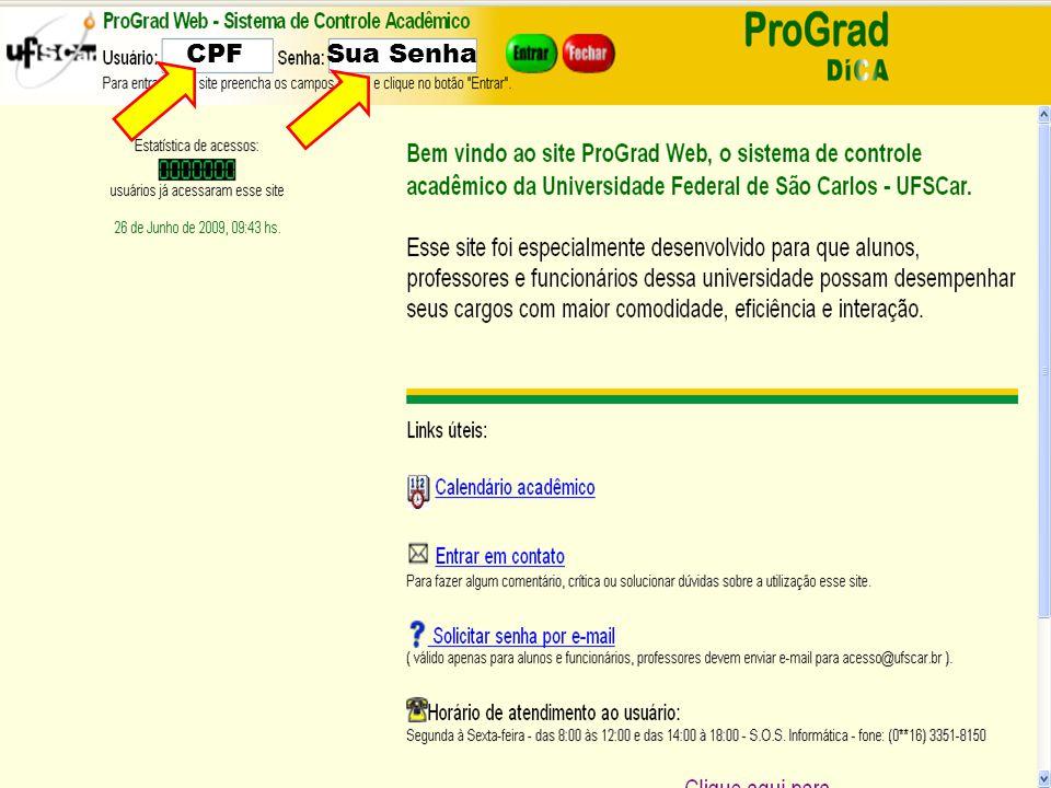 CPF Sua Senha