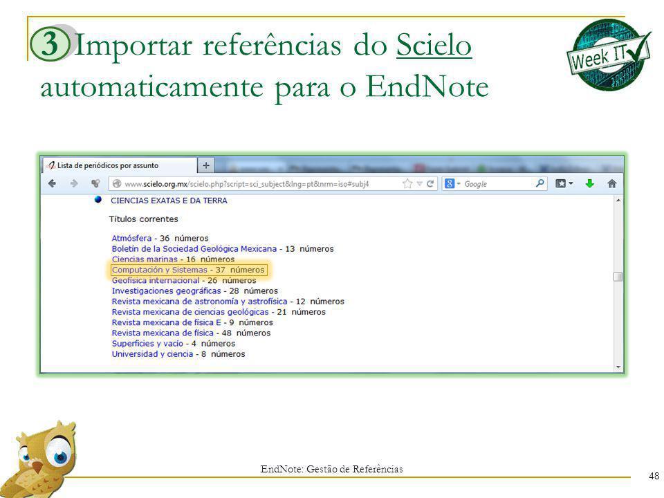 Importar referências do Scielo automaticamente para o EndNote