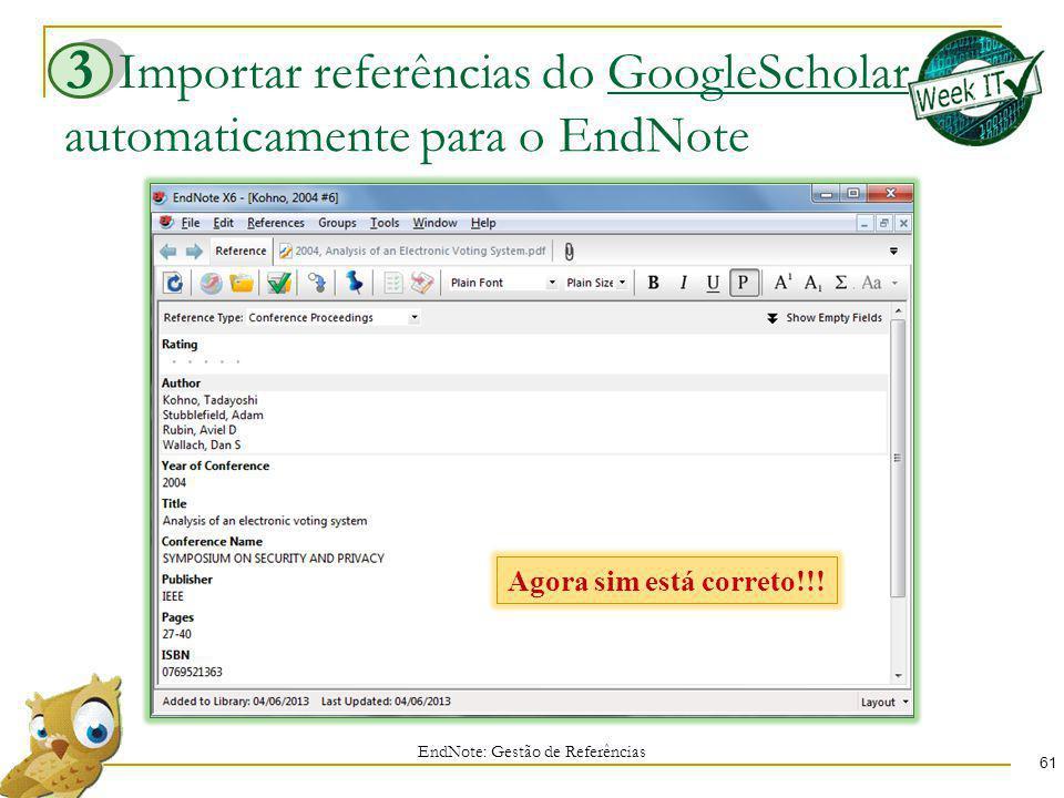 Importar referências do GoogleScholar automaticamente para o EndNote