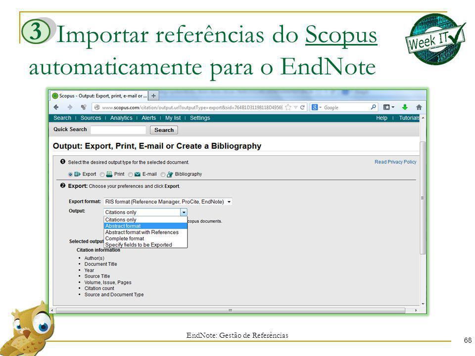Importar referências do Scopus automaticamente para o EndNote