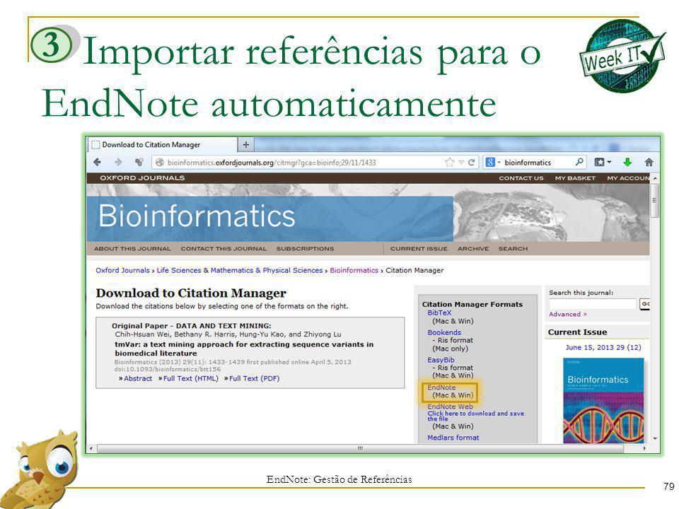 Importar referências para o EndNote automaticamente