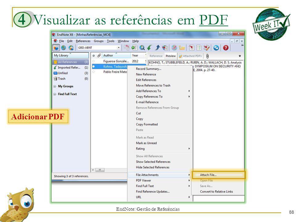 Visualizar as referências em PDF