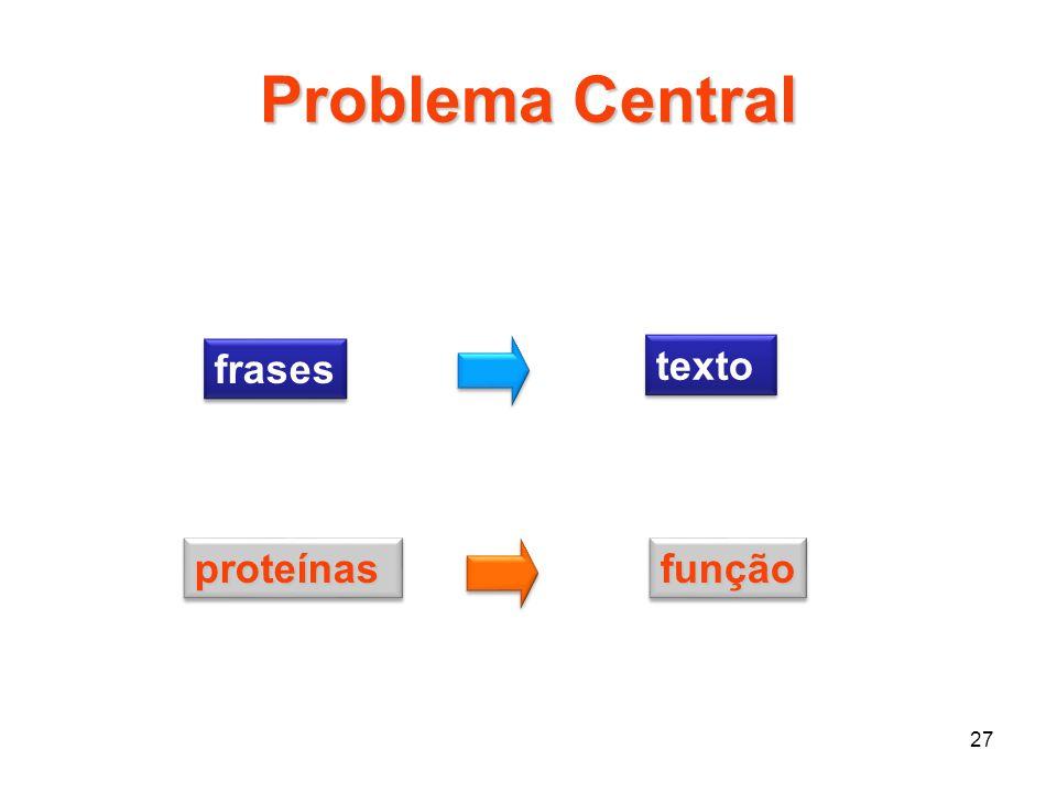 Problema Central frases texto proteínas função