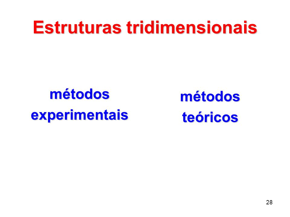 Estruturas tridimensionais