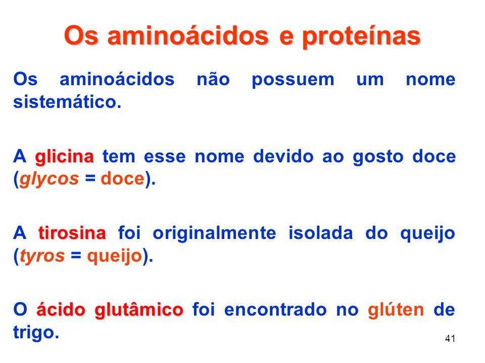 Os aminoácidos e proteínas