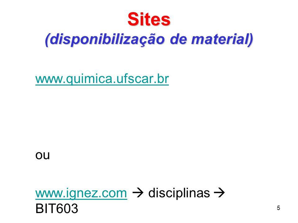 Sites (disponibilização de material)