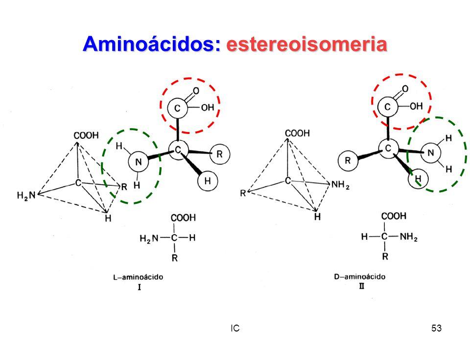 Aminoácidos: estereoisomeria