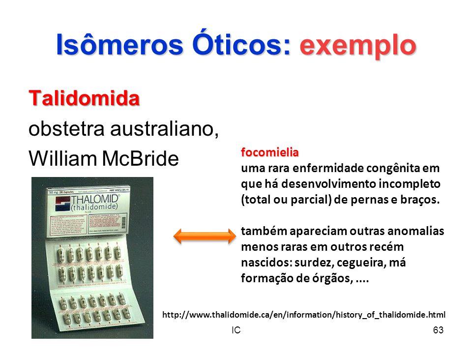 Isômeros Óticos: exemplo