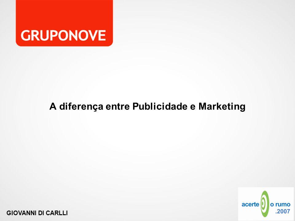 A diferença entre Publicidade e Marketing