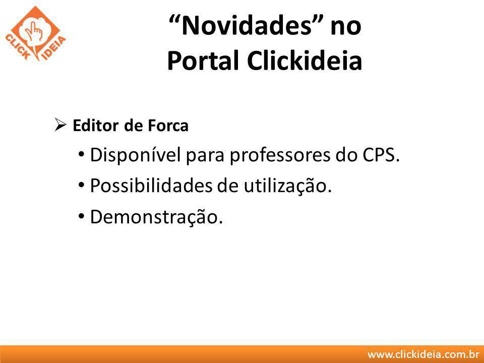 Novidades no Portal Clickideia