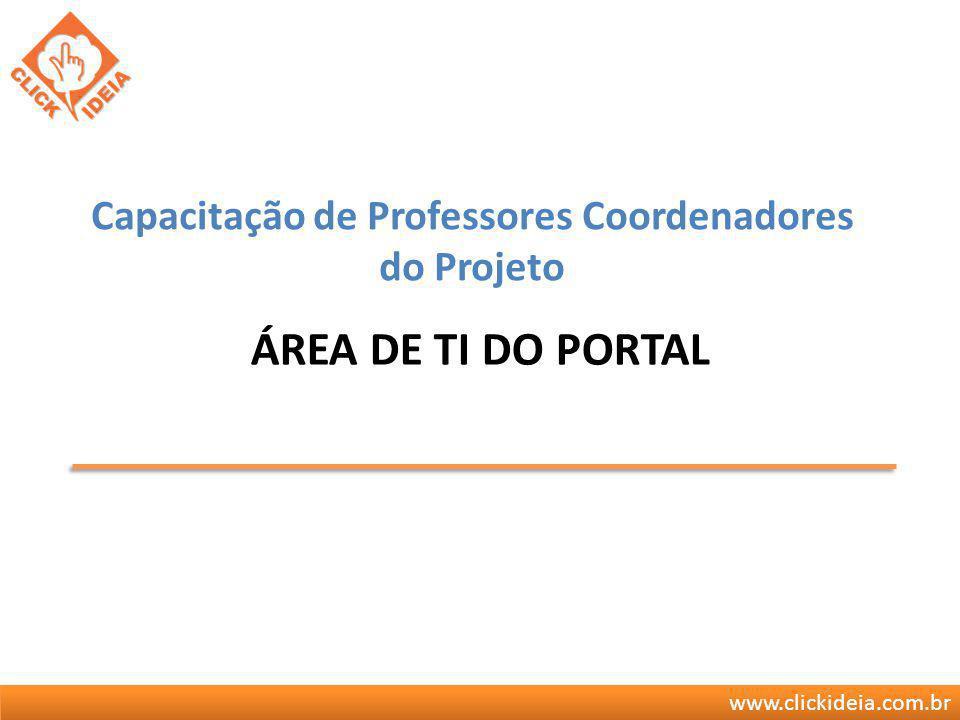 Capacitação de Professores Coordenadores do Projeto