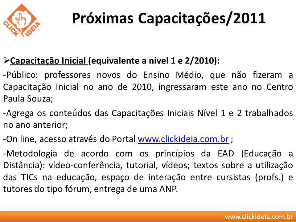 Próximas Capacitações/2011