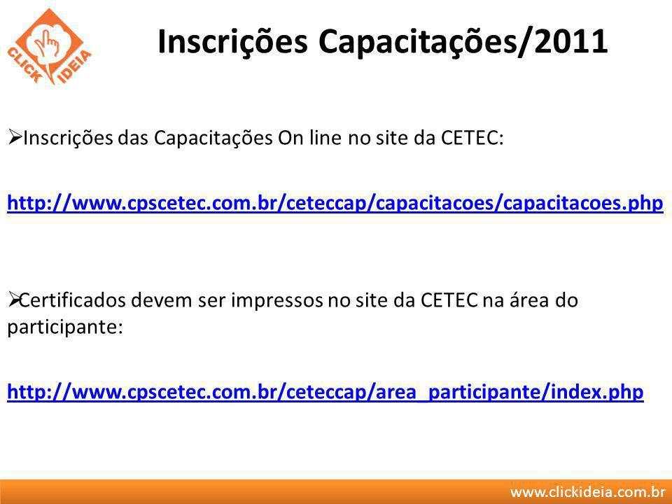Inscrições Capacitações/2011
