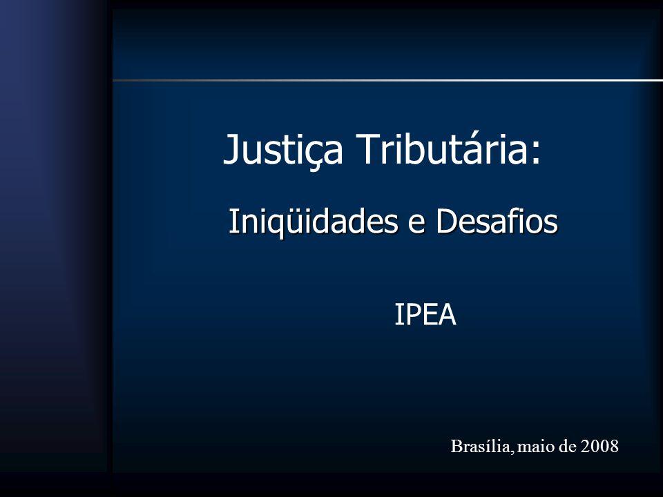 Justiça Tributária: Iniqüidades e Desafios IPEA Brasília, maio de 2008