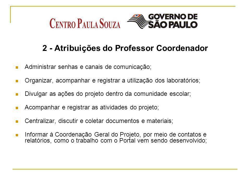 2 - Atribuições do Professor Coordenador
