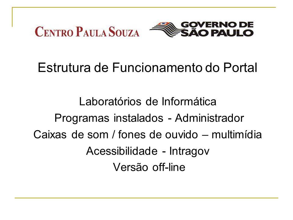 Estrutura de Funcionamento do Portal