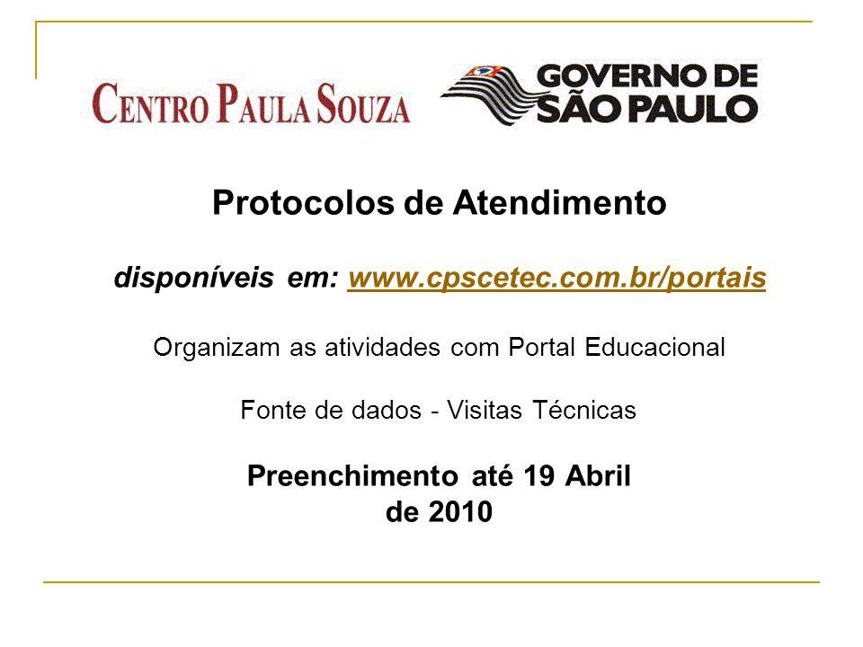 Protocolos de Atendimento disponíveis em: www. cpscetec. com