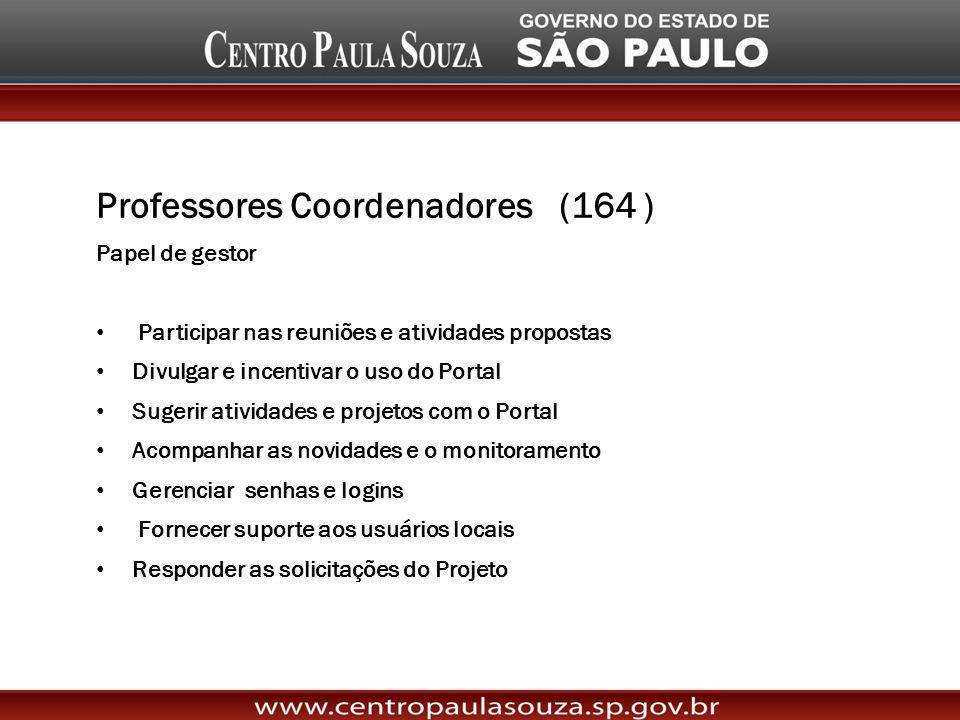 Professores Coordenadores (164 )