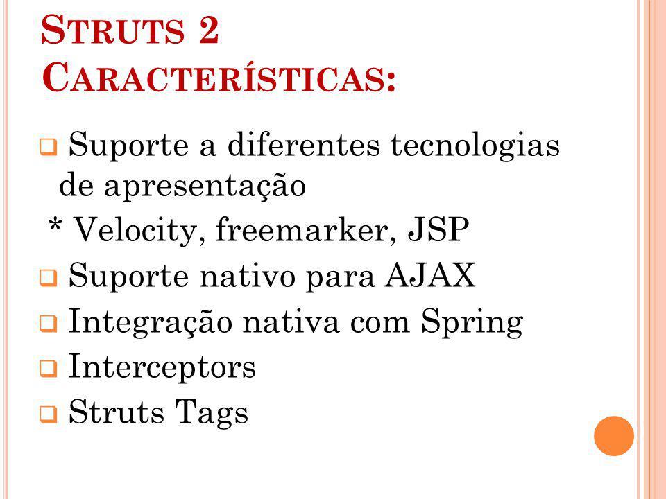 Struts 2 Características: