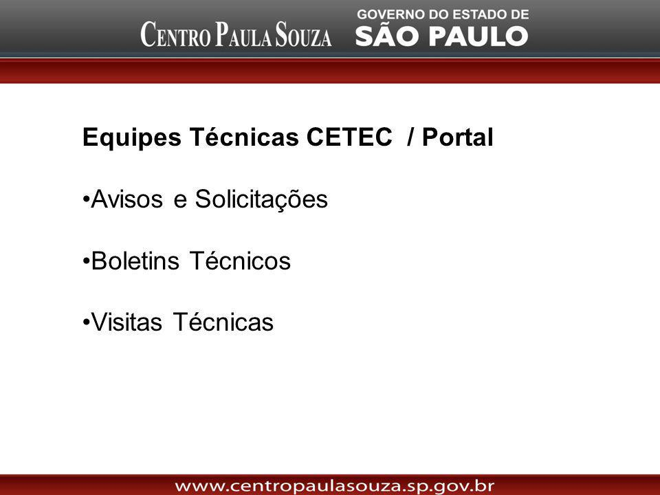Equipes Técnicas CETEC / Portal