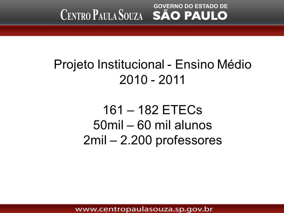 Projeto Institucional - Ensino Médio 2010 - 2011
