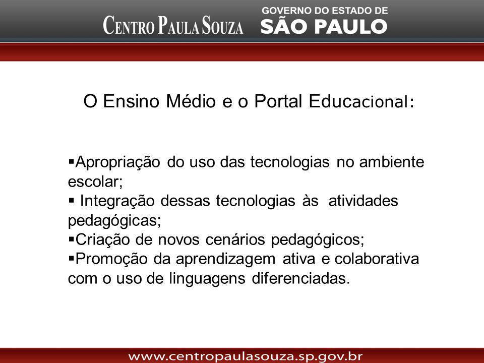 O Ensino Médio e o Portal Educacional: