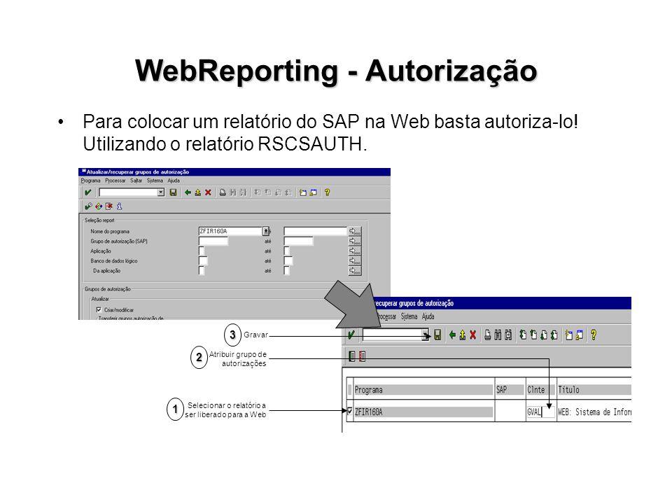 WebReporting - Autorização