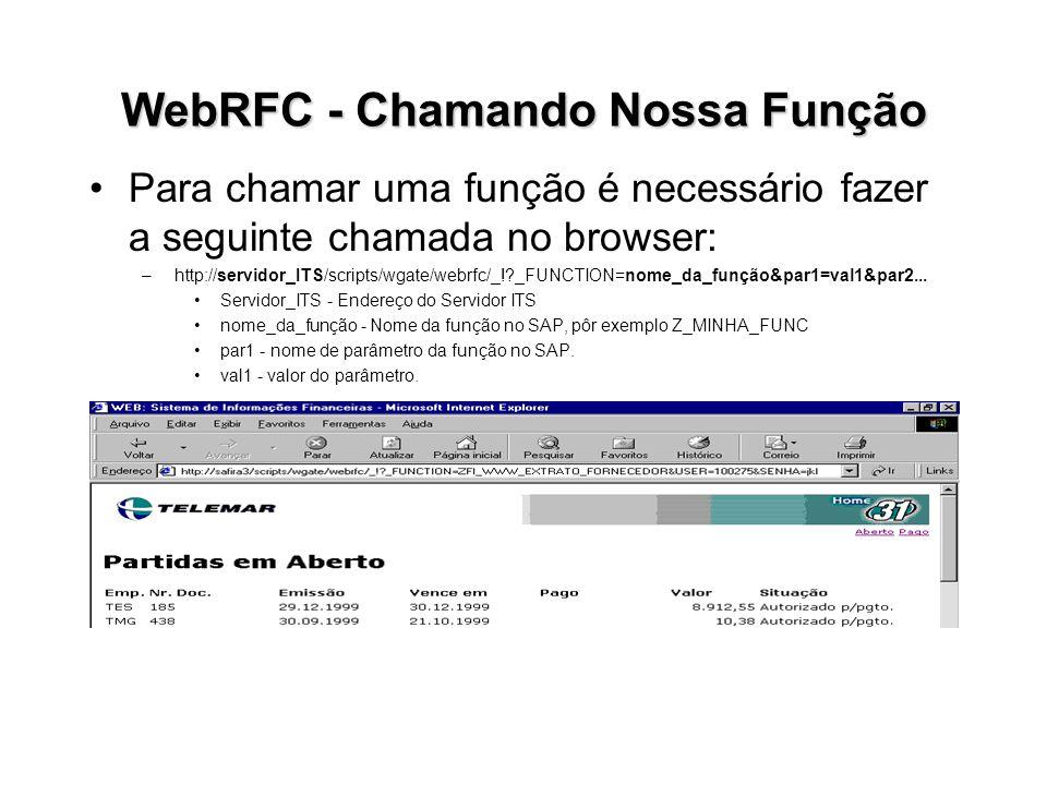 WebRFC - Chamando Nossa Função