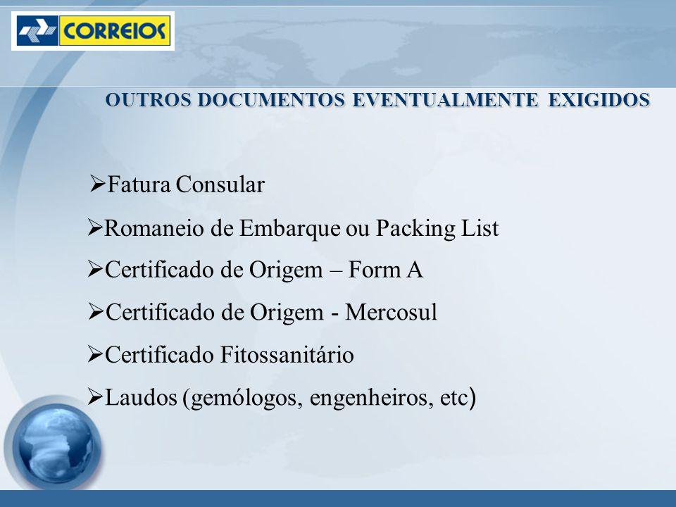 Romaneio de Embarque ou Packing List