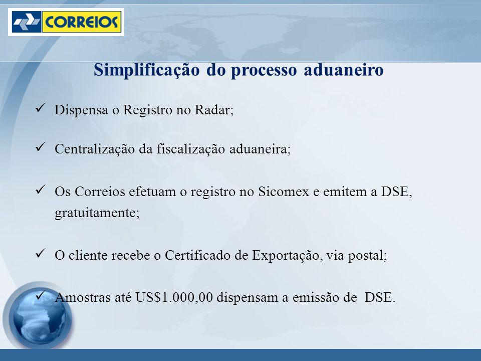 Simplificação do processo aduaneiro