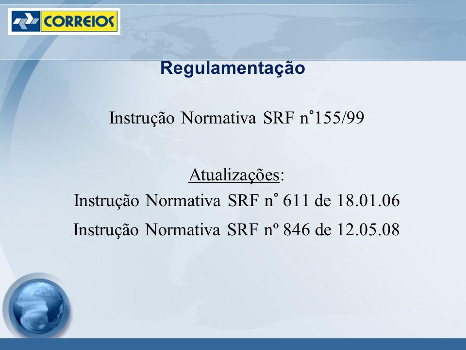 Instrução Normativa SRF n°155/99 Atualizações: