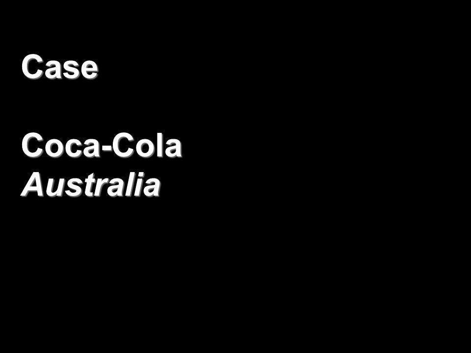 Case Coca-Cola Australia