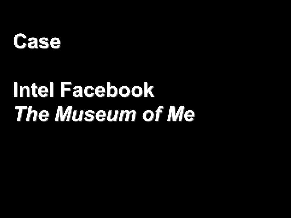 Case Intel Facebook The Museum of Me