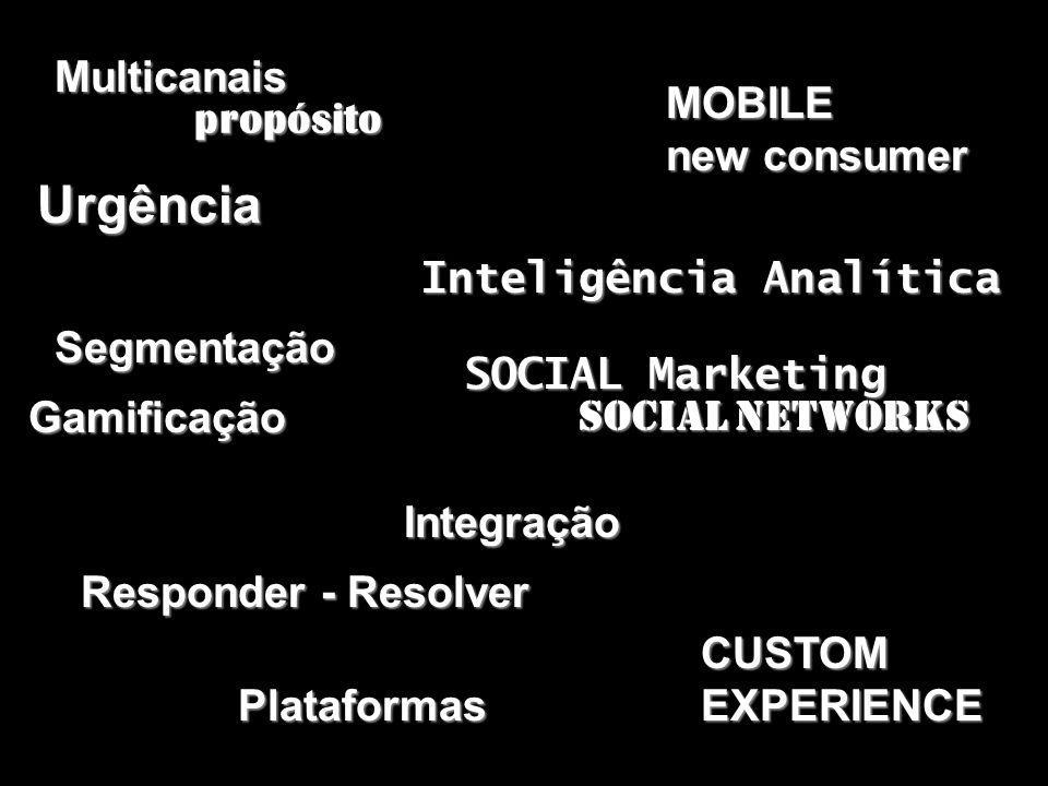 Urgência Multicanais MOBILE new consumer propósito