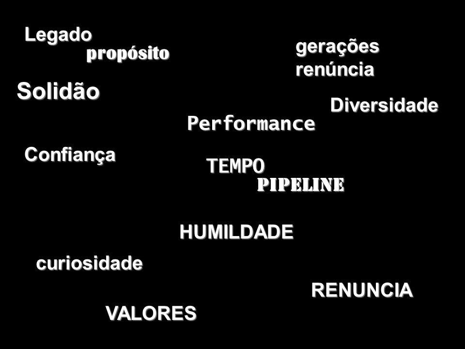 Solidão Legado gerações propósito renúncia Diversidade Performance