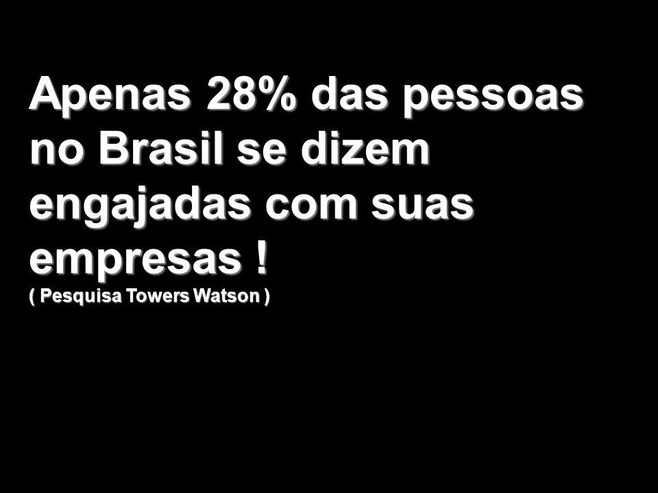 Apenas 28% das pessoas no Brasil se dizem engajadas com suas empresas !