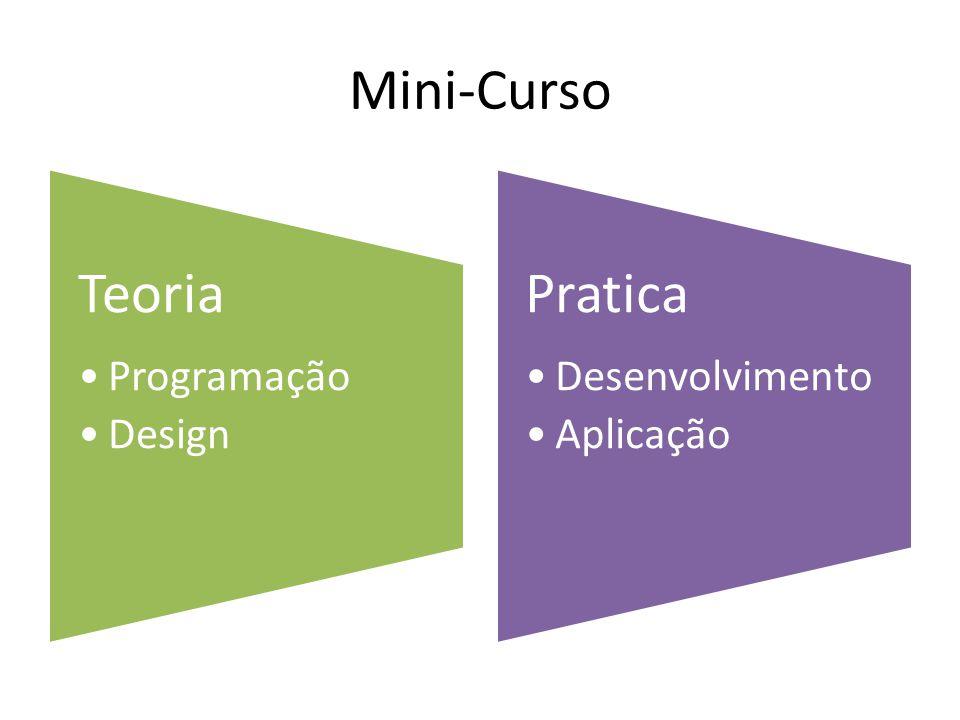 Mini-Curso Teoria Programação Design Pratica Desenvolvimento Aplicação