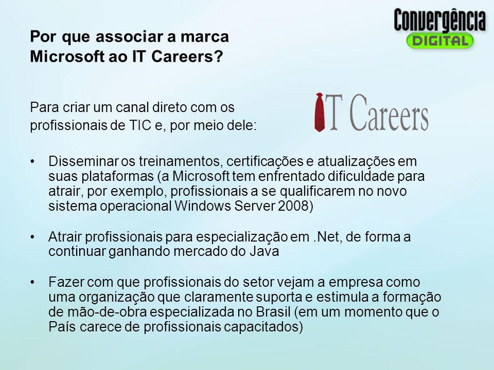 Por que associar a marca Microsoft ao IT Careers