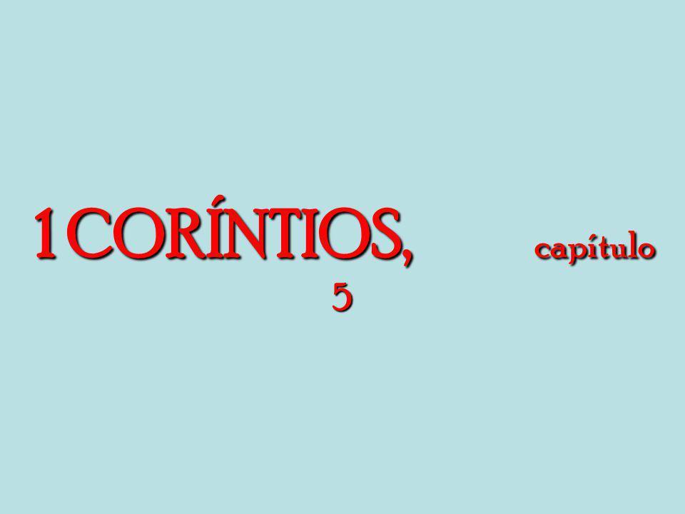 1 CORÍNTIOS, capítulo 5