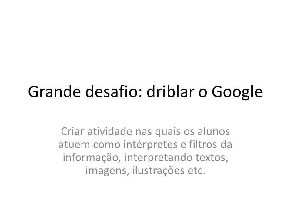 Grande desafio: driblar o Google