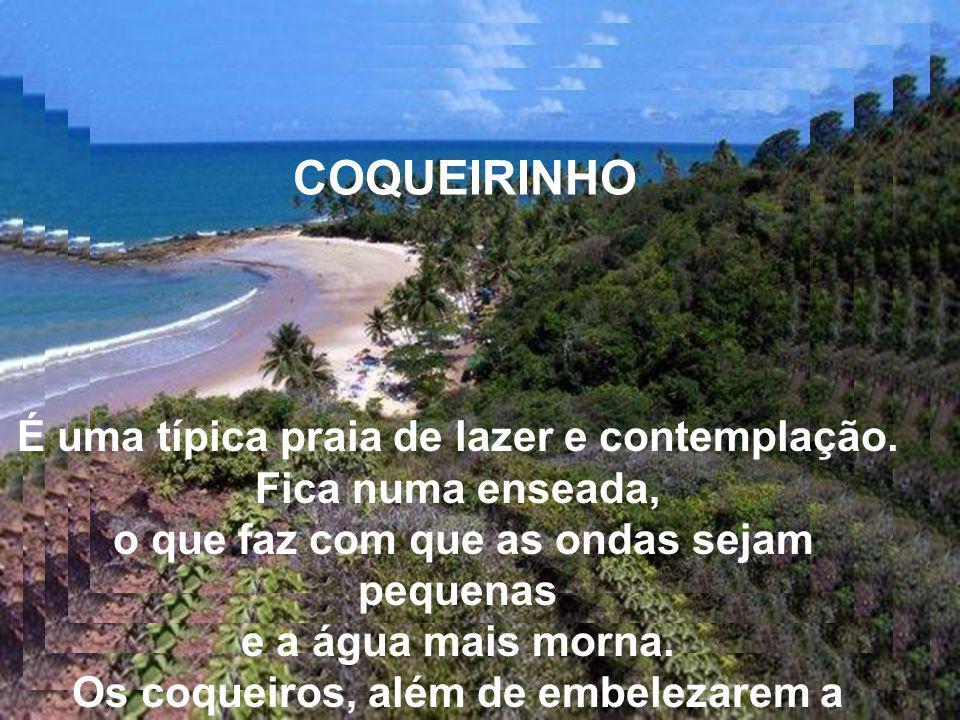 COQUEIRINHO É uma típica praia de lazer e contemplação. Fica numa enseada, o que faz com que as ondas sejam pequenas.