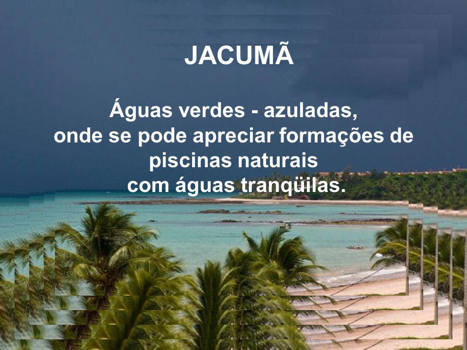 JACUMÃ Águas verdes - azuladas,